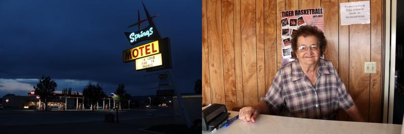 Springs Motel owner, Irma Gillespie
