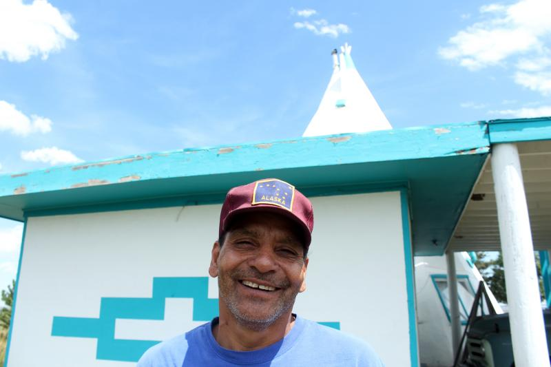 Teepee owner Lawrence Anaya