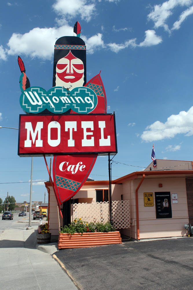 The Chief watches over the Wyoming Motel