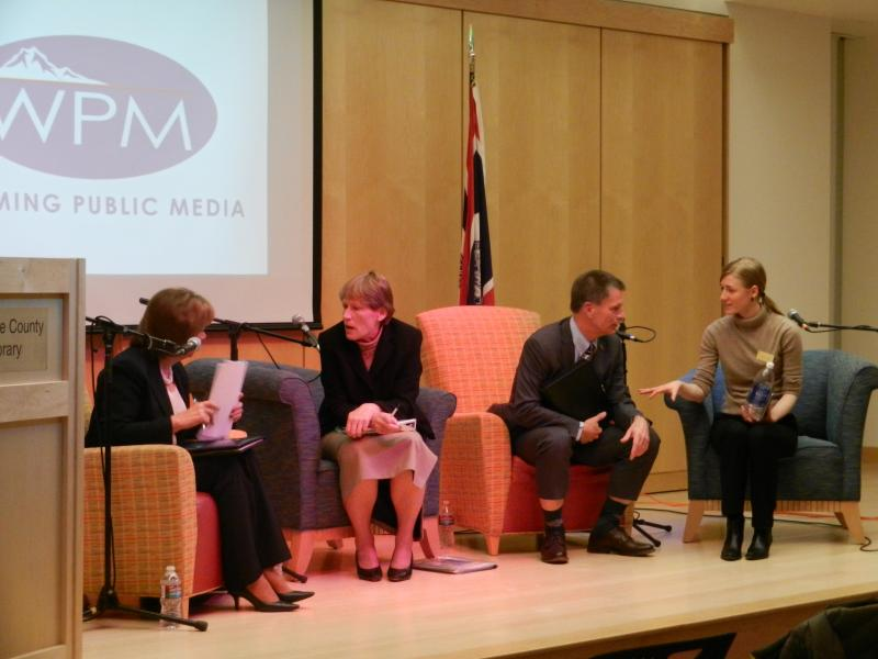 Rita Meyer, Leslie Glustrom, Mark Gordon, and Moderator Stephanie Joyce end the Forum.