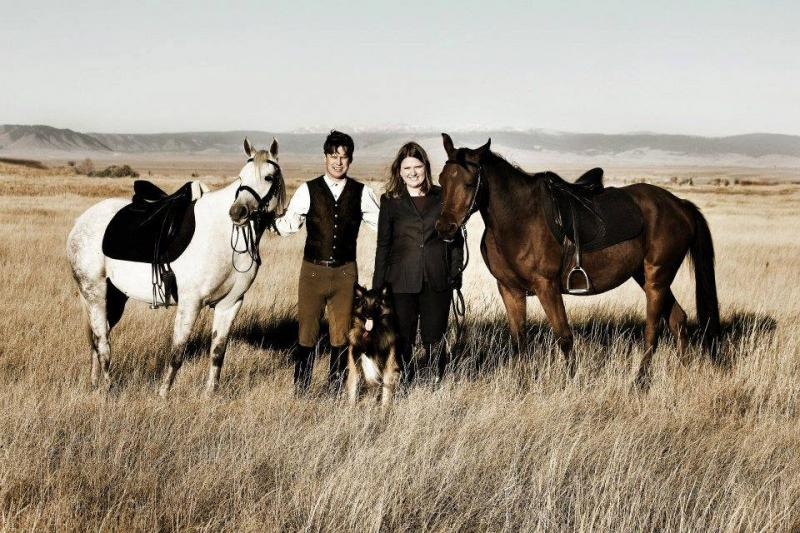 Our Crabbet Arabians, Amina and Mica (with Jeffrey Evans and Melanie Murphy).