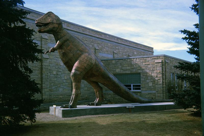 T. rex on guard duty.