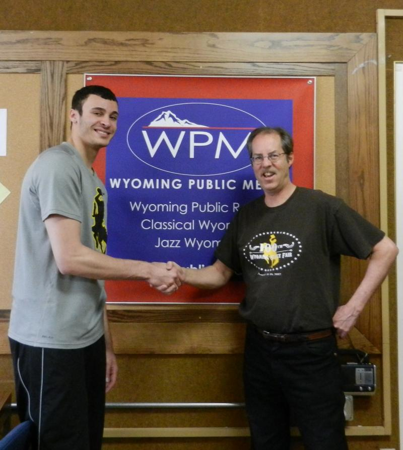 Cowboy Basketball Player Larry Nance Jr. and Morning Music Host Grady Kirkpatick.