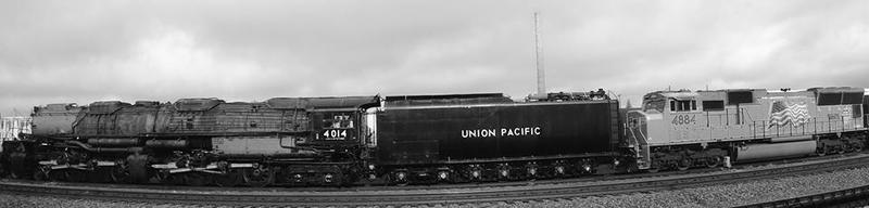 Big Boy 4014 waiting to leave Laramie Thursday morning.
