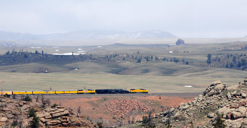 Big Boy 4014  en route to Cheyenne.