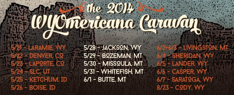 WYOmericana Caravan summer 2014 tour schedule