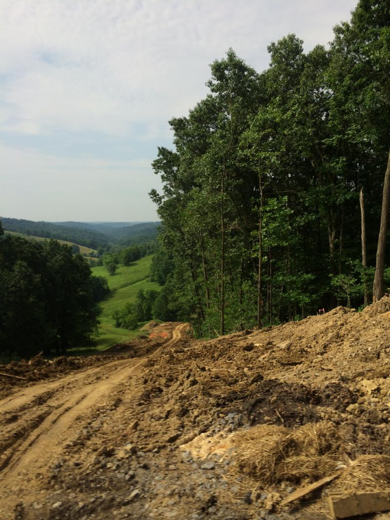 A pipeline corridor under construction in Washington County, Pennsylvania.