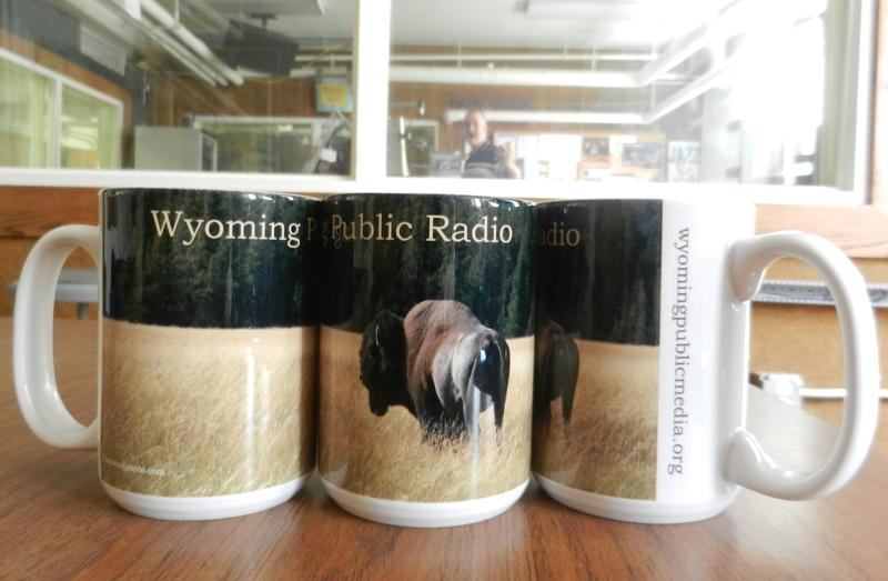 Wyoming Public Radio's new bison mugs!