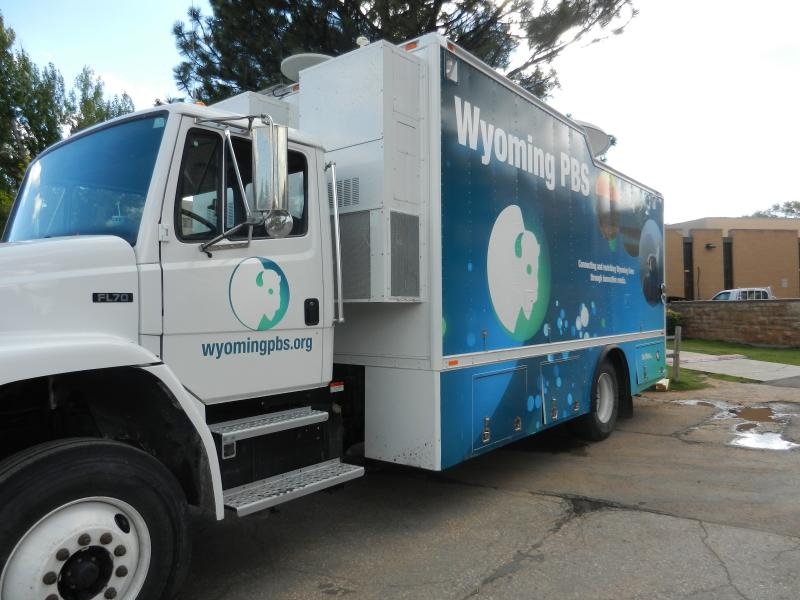 The Wyoming PBS truck at the Education Forum.