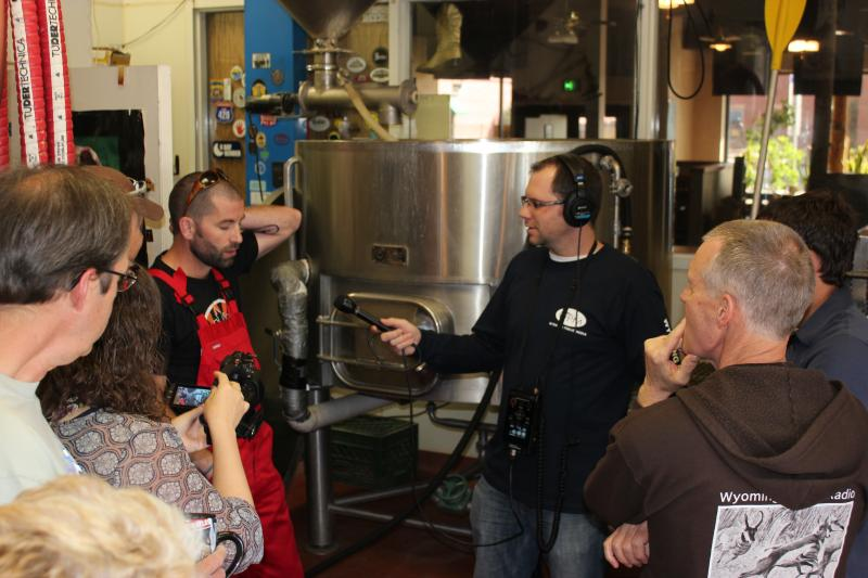 WPM staff hear all the about the process of creating beer.