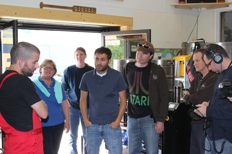 WPM staff with Head Brewer Jared Long.