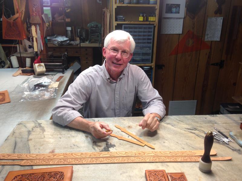 Master leathermaker Jim Jackson.