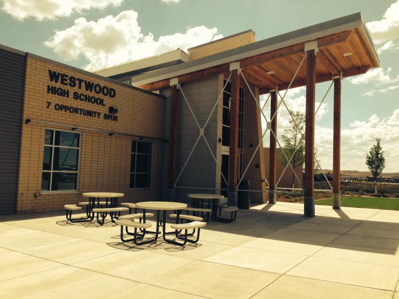 The new Westwood High School building on Gillette College's campus.