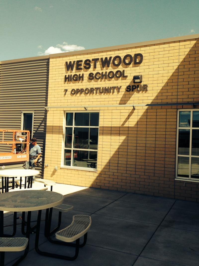 Construction workers are still putting the finishing touches on the new Westwood High School.