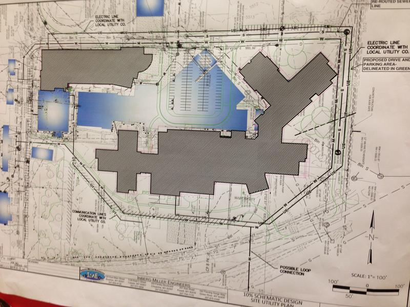 Blueprints for a new Fort Washakie High School.