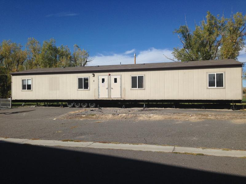 This portable building used to house Fort Washakie High School in its entirety.