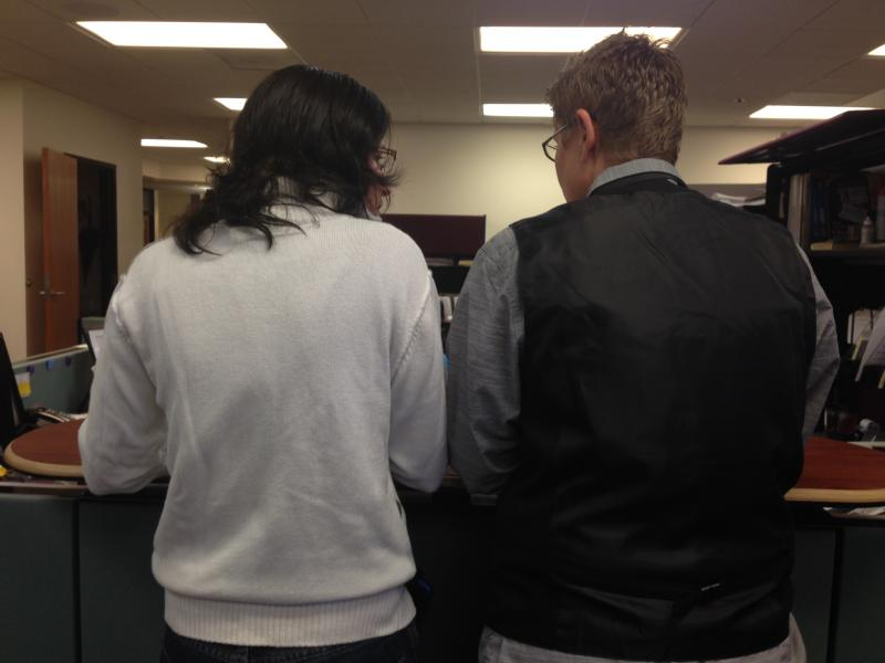 Johnson and Maloney get their marriage license