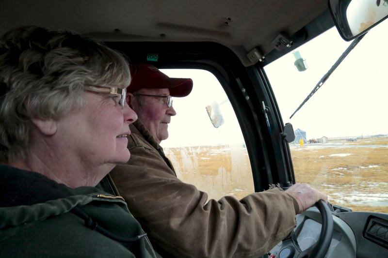 Joanne and Larry Njos live downstream of the spill site outside Williston, North Dakota.