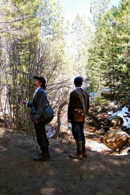 Contemplating nature. From left: Jeffrey Tatay and Ryan Oberhelman.
