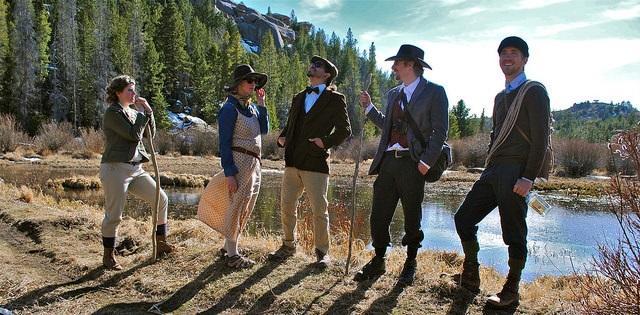 High Society Hiking Club. From left: Erica Wood, Brienna Fleming, Jeffrey Duloz, Jeffrey Tatay, Ryan Oberhelman