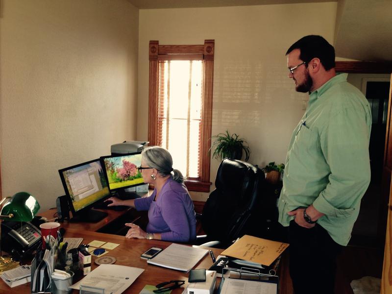 Wyoming ACLU Director Linda Burt and Staff Ryan Frost