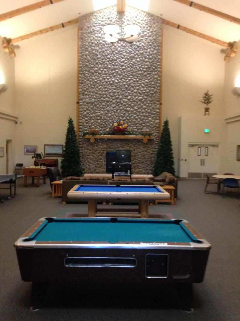 The game room for Title 25 patients at Wyoming State Hospital