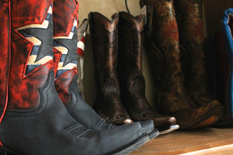 Customized boots are just one of the perks of being Miss Frontier.