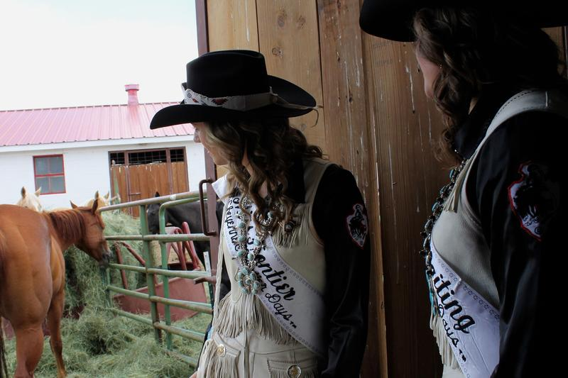 Excellent riding skills are one of the most important parts of being Miss Frontier and a Lady-In-Waiting. Each day they ride at top speed around the arena to kick off the events.