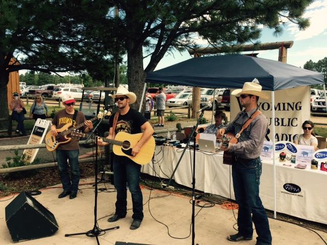 Tris Munsick and The Innocents playing during Morning Music's live show at Old Frontier Town during Cheyenne Frontier Days.