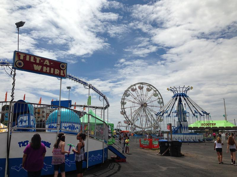 The carnival midway at Cheyenne Frontier Days Arena.