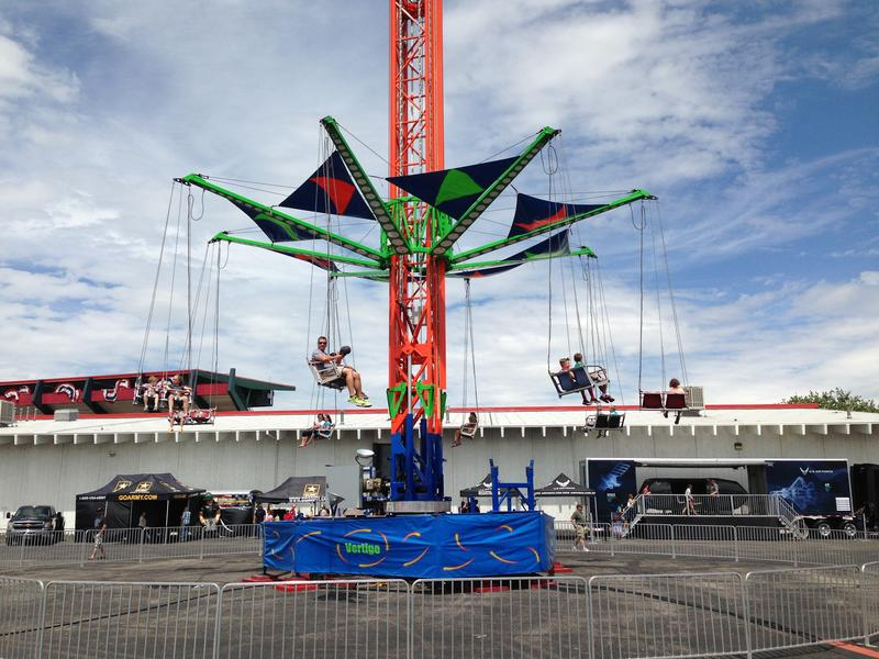 A ride in the carnival midway at Cheyenne Frontier Days.