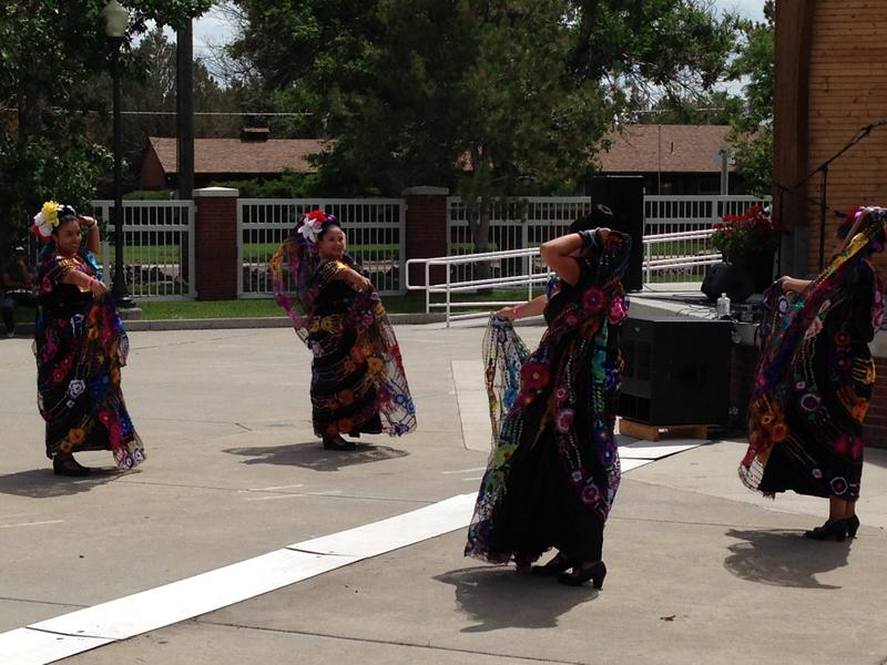 Dancers provided entertainment at a party hosted by La Jota Mexicana, 94.7 FM on CFD grounds.