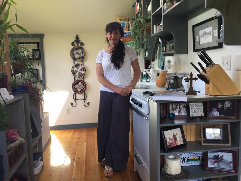 Shannon Helton in her former Wilson apartment