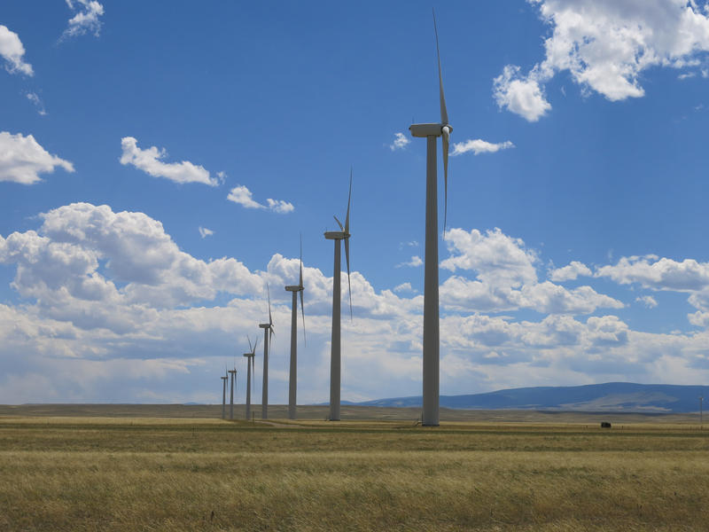 The High Plains wind farm, near McFadden, Wyoming.