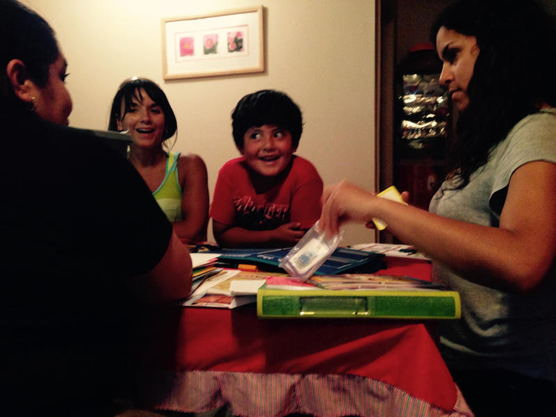 Maria Del Carmen Sanchez, Teton Literacy Center's Elyse Kennedy, Camilo Farfan, and Teton Literacy Center's Fiorella Lazarte.