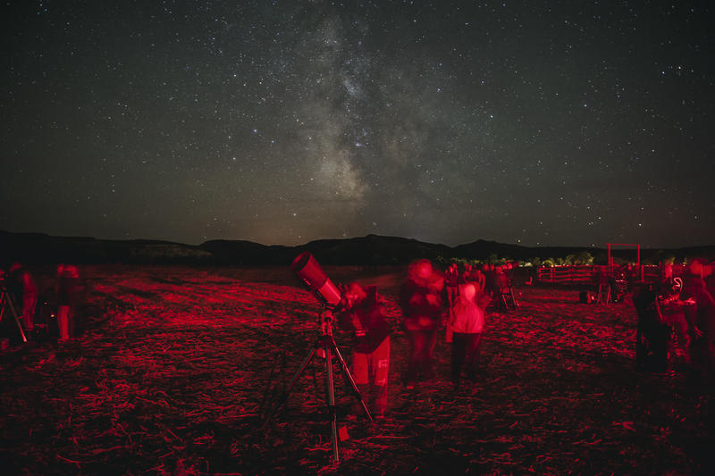 Star gazers came from around the country for the annual Dakota Nights Astronomy Festival in the south unit of Theodore Roosevelt National Park in western North Dakota. Red lights were used during the event to help people move between telescopes without ru