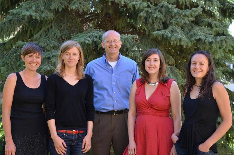 2013 News team. (L-R) Willow, Stephanie, Bob, Rebecca and Irina.