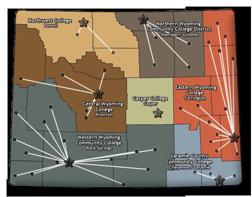 Colleges In Wyoming Map | autobedrijfmaatje on