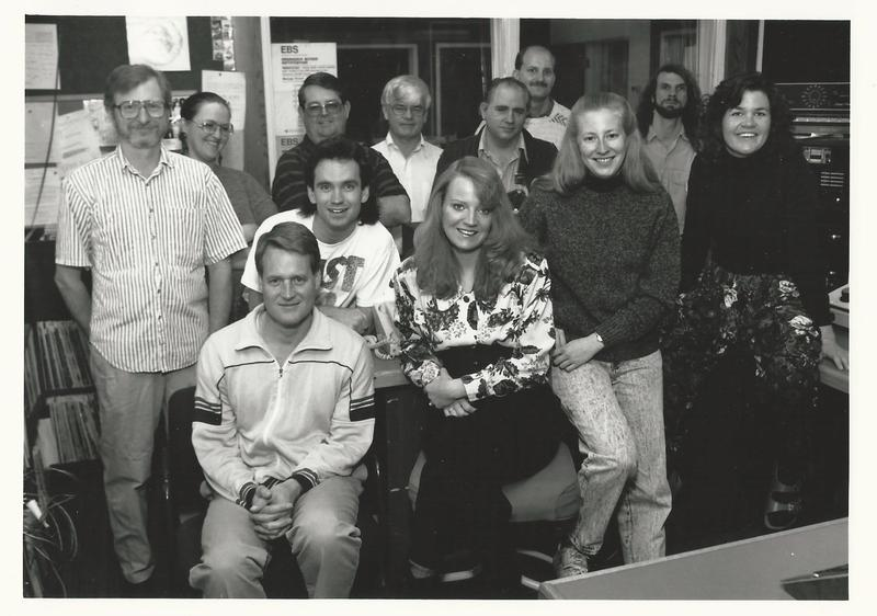 Don Woods with Staff 1991