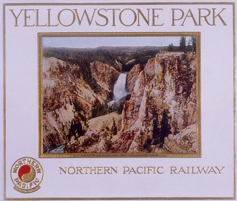 "Northern Pacific Railroad brochure back cover - ""Yellowstone Park""; 1913, 1914, 1915"