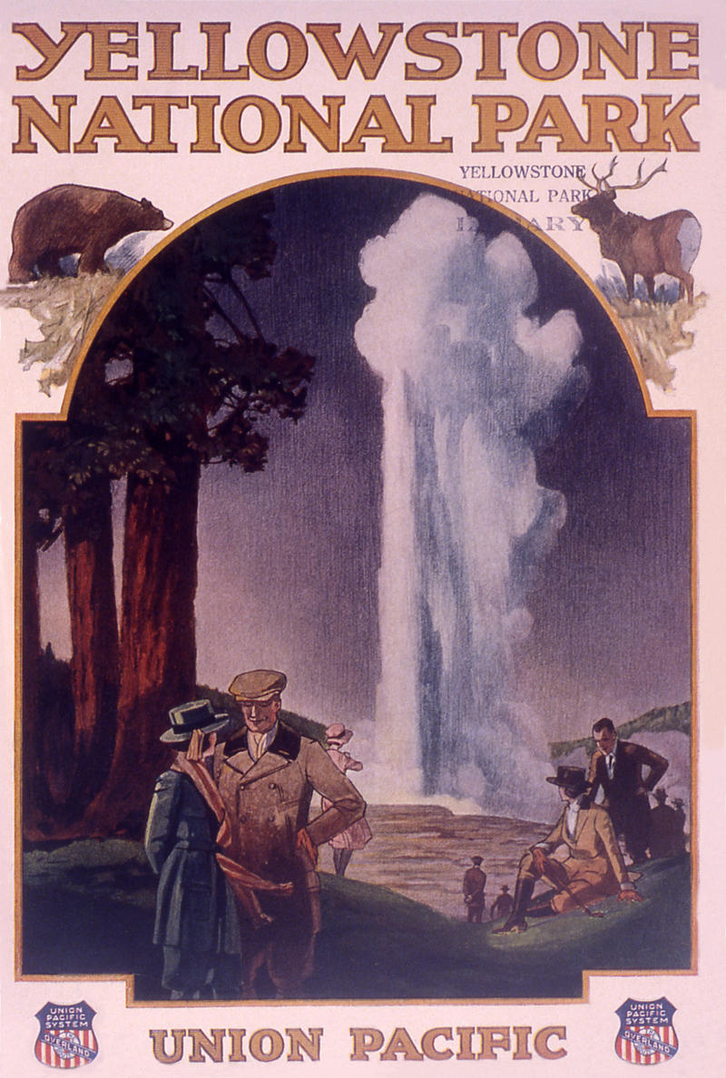"Cover of the Union Pacific Railroad brochure ""Yellowstone National Park""; Artist unknown; 1921"