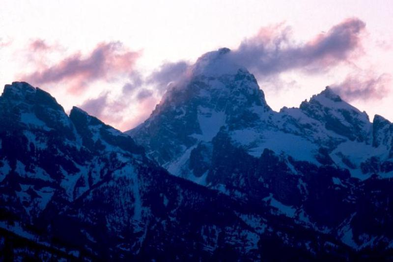 Grand Teton Sunset in Winter