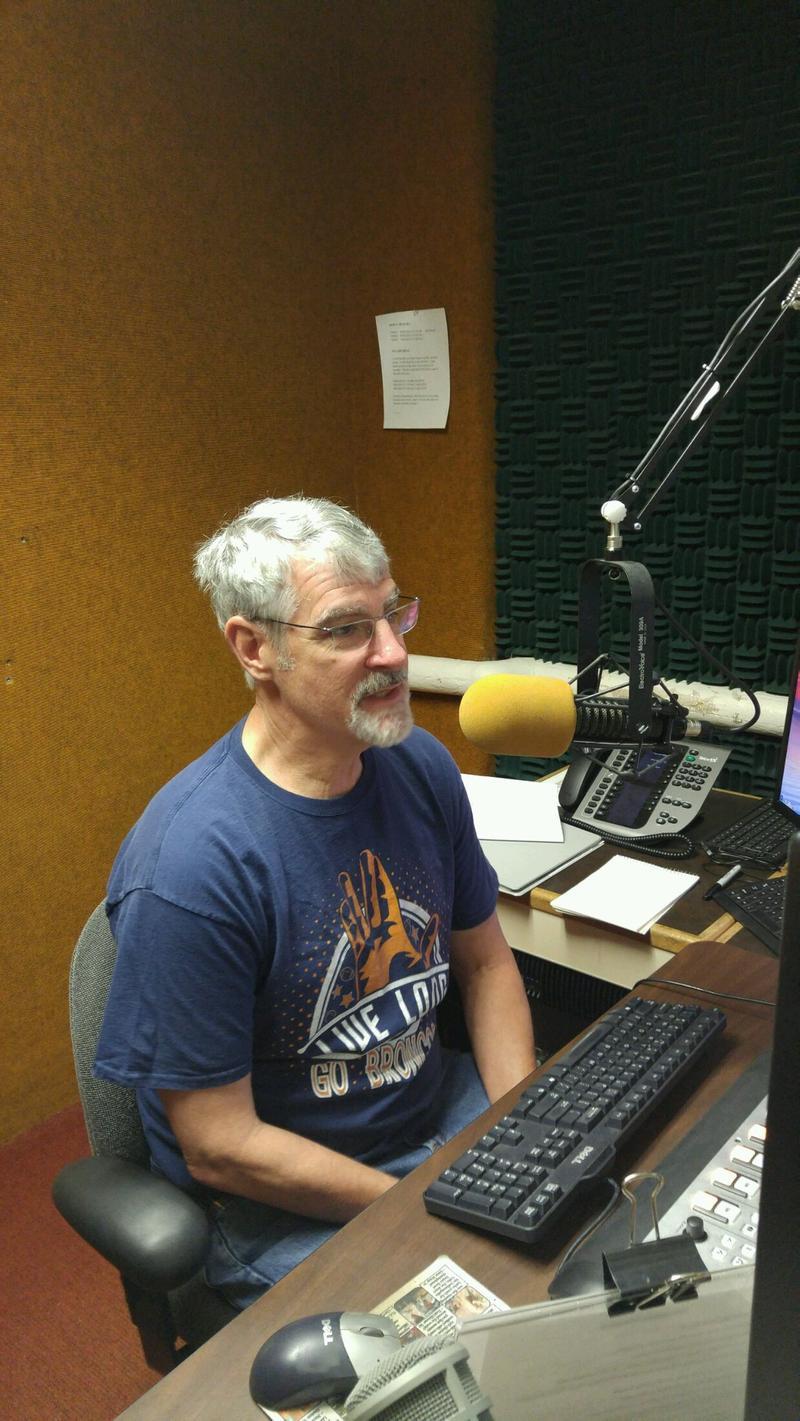 Al Schaake in the Wyoming Public Radio studio Sep. 7, 2016.