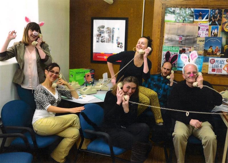 Rebecca Martinez & Wyoming Public Radio staff on Pet Wednesday