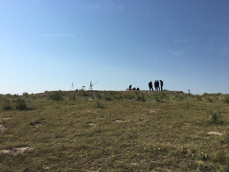 Small hill where several students released radiosonde balloons