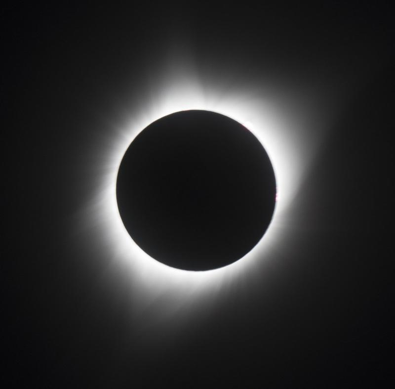 Corona as just seen from Casper, Wyoming