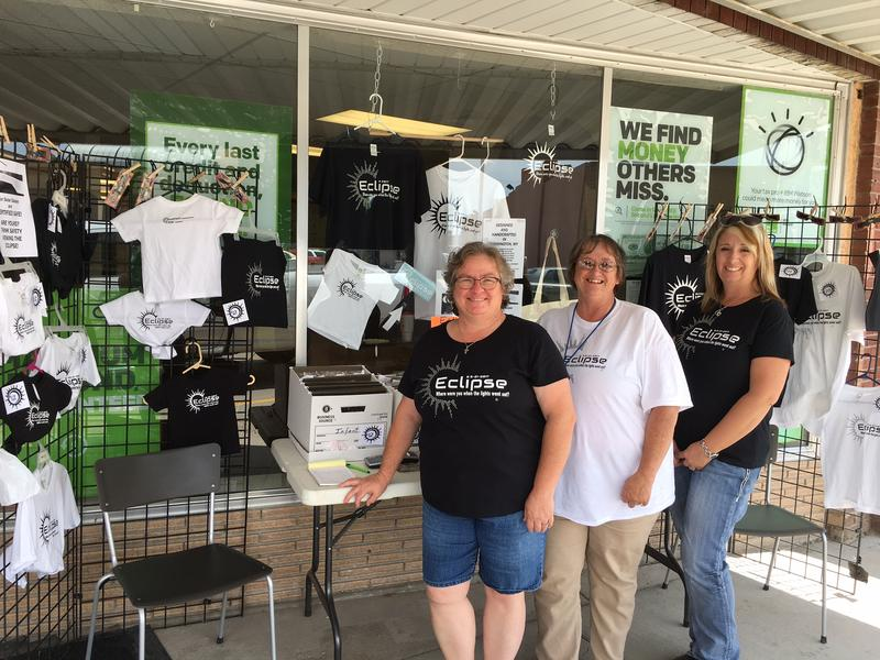 At Torrington's H & R Block with Sally Cole, Linda Keener, Dawn Pickinpaugh -- in order from left to right