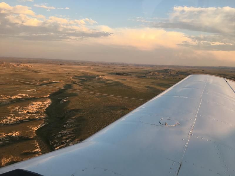 Plane overlooking Goshen County
