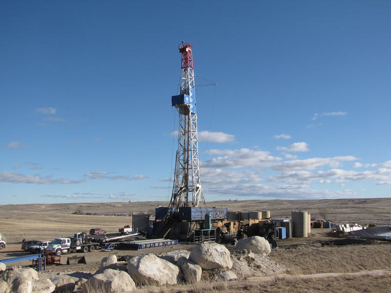 A Wyoming rig on federal land used for long directional drilling