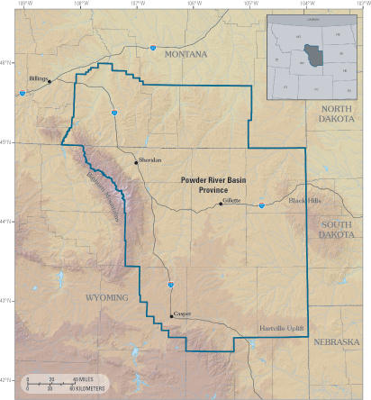 Powder River Basin Province of northeastern Wyoming and southeastern Montana.